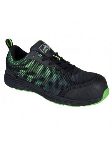 Chaussure de sécurité S1P Portwest Compositelite Ogwen Noir/Vert