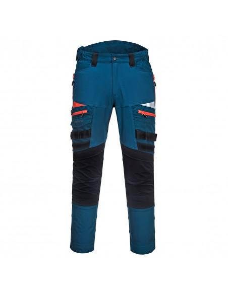 Portwest-Pantalon pro de travail DX4 + paire de genouillères offerte Bleu Métro