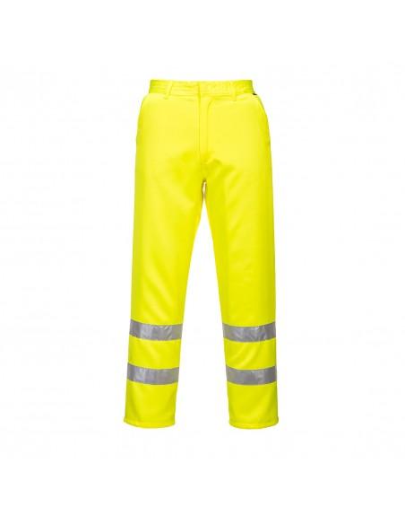 Portwest-Pantalon de sécurité haute visibilité Polycoton Jaune