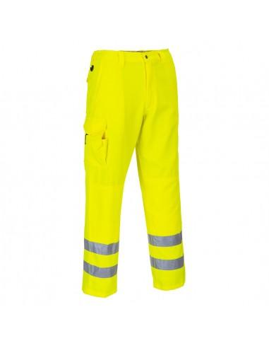 Portwest-Pantalon  de travail style combat haute visibilité Jaune