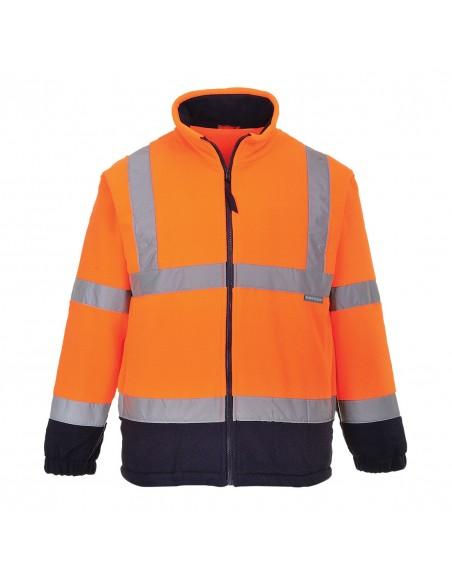 Portwest-Polaire de travail haute visibilité résistant anti-bouloche Orange/Marine
