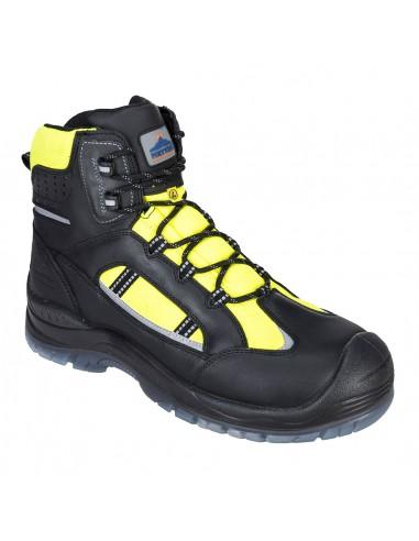 Chaussure montante de Sécurité Haute Visibilité Compositelite Retroglo S3 WR ESD Portwest Jaune