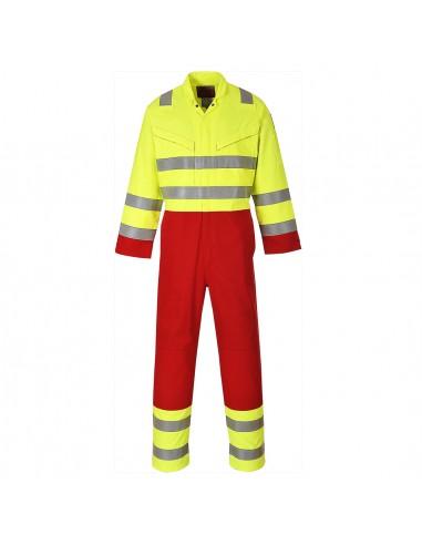 Combinaison Pro Haute Visibilité Anti-Flammes Portwest Bizflame Services Jaune