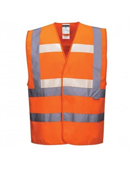 Portwest-Gilet haute visibilité spécial jour nuit et luminosité nulle Orange