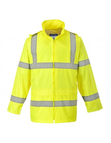 Portwest-Veste de pluie pro haute visibilité avec capuche détachable Jaune