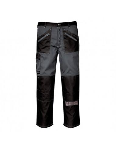 Portwest Pantalon de travail professionnel avec Tissu sergé résistant Noir/Zoom Gris