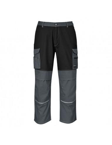 Portwest Pantalon de travail multi-poches tissu résistant Granite Gris Zoom/Noir