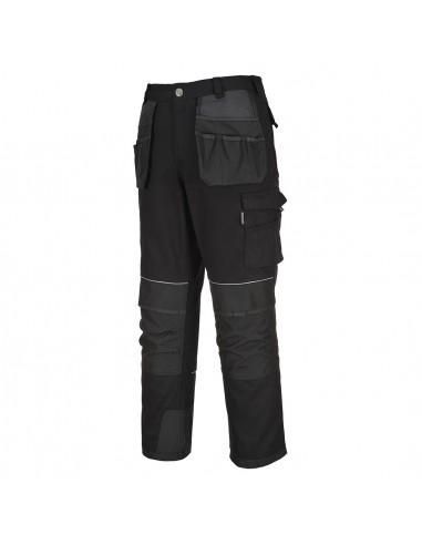Portwest Pantalon de travail multi-poches en toile avec des renforts Noir