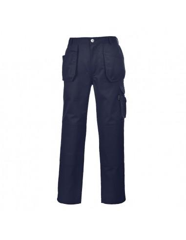 Portwest Pantalon de travail BTP robuste Slate poches holster Marine
