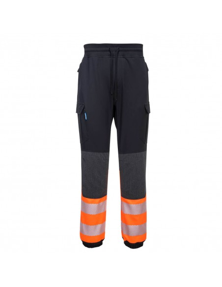 Portwest-Pantalon ajusté pro confort haute visibilité flexi KX3 Noir/Orange