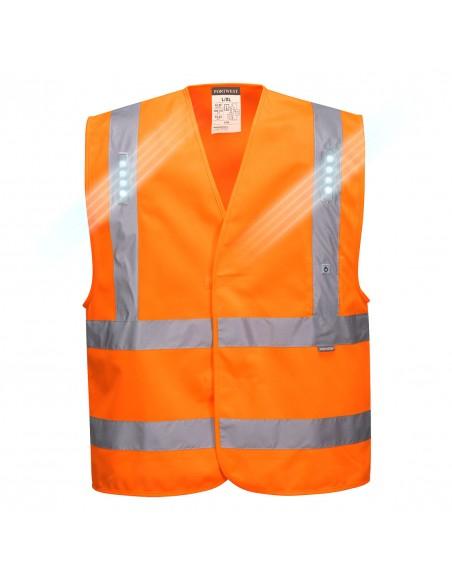 Portwest-Gilet de sécurité haute visibilité avec technologie LED Vega Orange