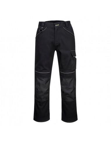 Portwest-Pantalon de travail coton + paire de genouillères offertes Noir