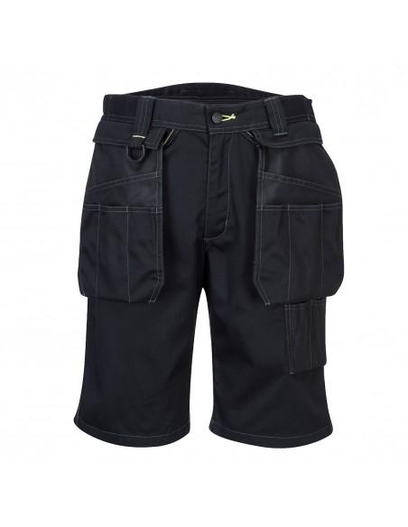 Portwest Bermuda de travail avec poches flottantes détachables Noir