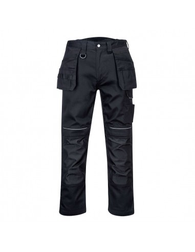Portwest-Pantalon de travail professionnel robuste 100% Coton Holster Noir