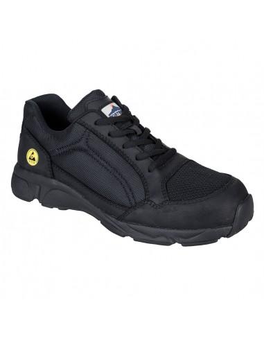 Chaussure de sécurité S1P Portwest Compositelite ESD Tees Trainer Noir