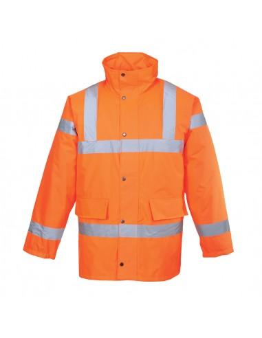 Portwest-Parka pro haute visibilité normé industrie ferroviaire SNCF Orange
