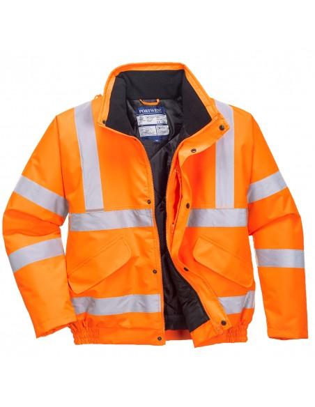 Portwest-Blouson haute visibilité Certifié RIS 3279 métier du rail Orange