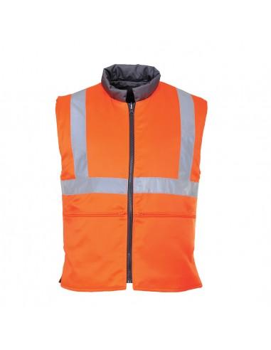Portwest-Gilet haute visibilité déperlant réversible et anti-froid Orange