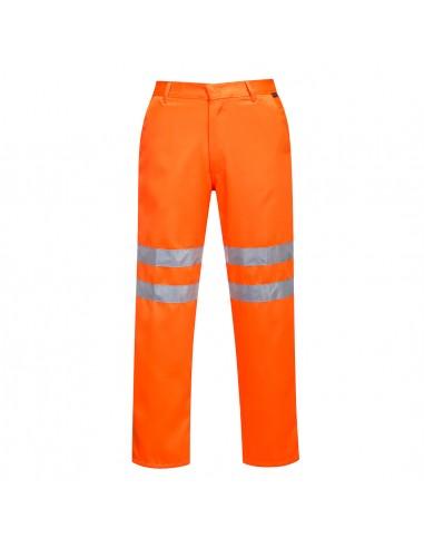 Portwest-Pantalon professionnel haute visibilité Polycoton RIS Orange