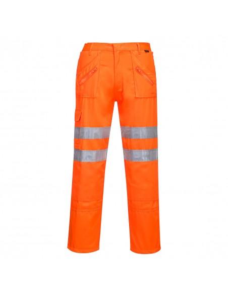 Portwest-Pantalon haute visibilité conforme aux normes ferroviaires Orange