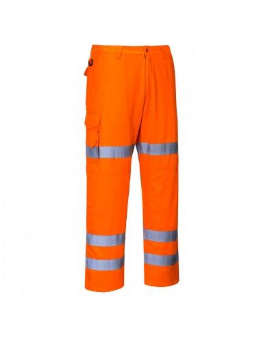 Portwest-Pantalon professionnel haute visibilité coupe combat 3 bandes Orange