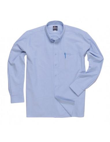 Portwest Chemise de service et travail Oxford manches longues Bleu