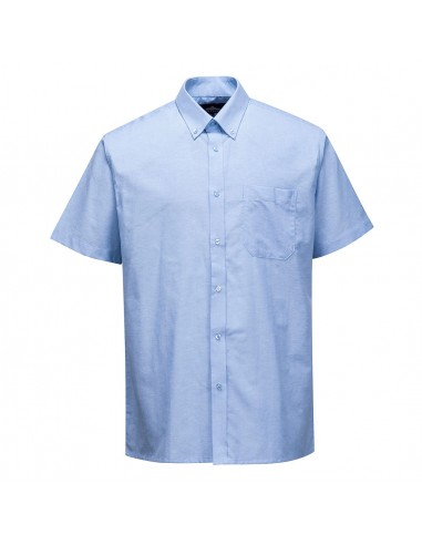 Portwest Chemise de travail entretien facile manches courtes Bleu
