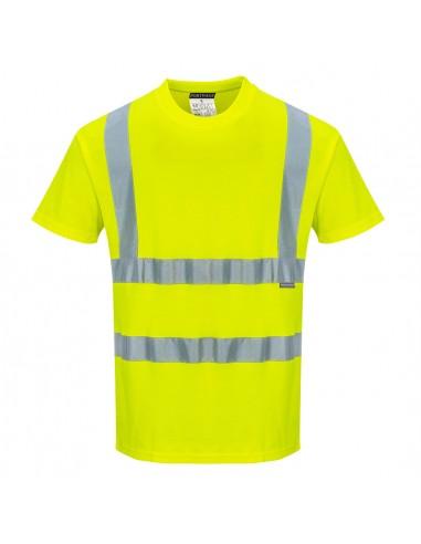 Portwest-T-shirt haute visibilité manche courte coton confort Jaune