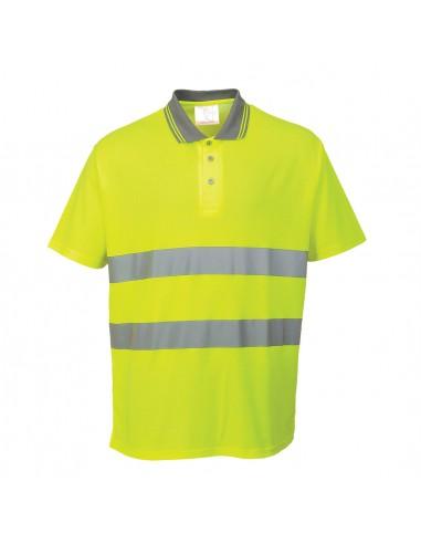 Portwest-Polo haute visibilité de sécurité ajustement confortable Jaune