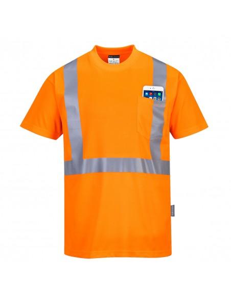 Portwest-T-Shirt de travail haute visibilité sans manche Pocket Orange