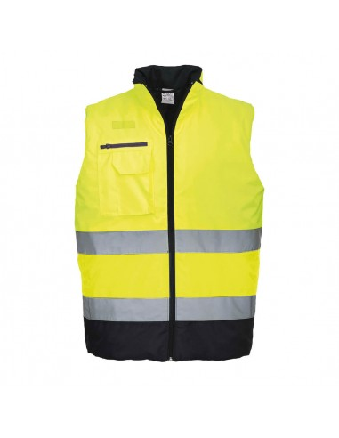 Portwest-Gilet de travail haute visibilité chauffant et confortable Jaune/Marine
