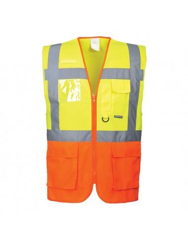 Portwest-Gilet haute visibilité léger Executive Prague Jaune/Orange