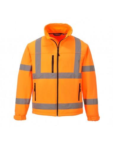 Portwest-Veste haute visibilité softshell classic en 3 couches Orange