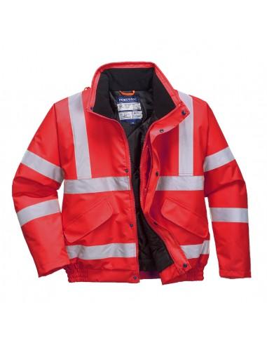 Portwest-Blouson de travail haute visibilité professionnel rembourré  Rouge