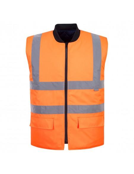 Portwest-Gilet de sécurité haute visibilité réversible chauffant Orange