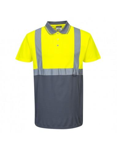 Portwest-Polo de sécurité haute visibilité style moderne bicolore Jaune/Gris