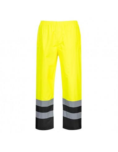 Portwest-Pantalon de travail haute visibilité imperméable coupe vent Jaune/Noir