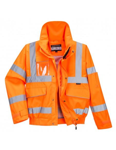 Portwest-Blouson de travail haute visibilité bomber extrême antitache Orange