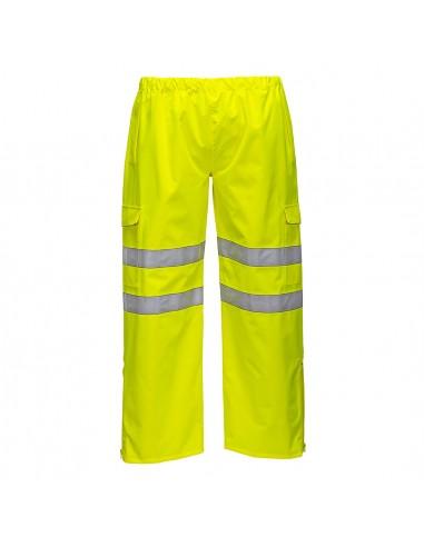 Portwest-Pantalon de travail haute visibilité imperméable coupe vent Jaune