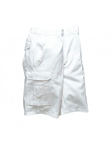 Portwest Bermuda de peintre professionnel avec multi-poches Blanc