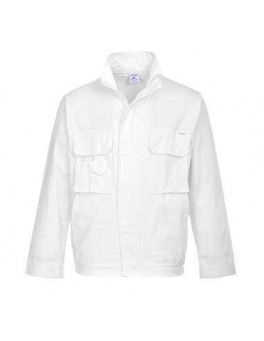 Portwest Blouson de peintre professionnel multi-poches Blanc
