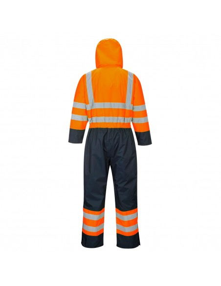 Portwest Combinaison de sécurité Haute Visibilité Contrast Hi-Vis matelassée Orange/Marine