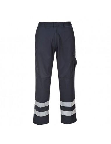 Portwest Pantalon de travail avec bandes rétro-réfléchissantes Marine