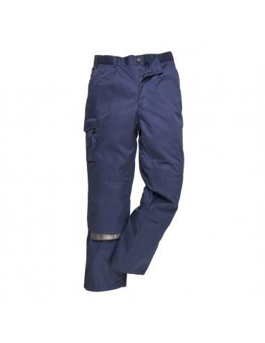 Portwest Pantalon de travail multi-poches en polycoton lourd pratique Marine