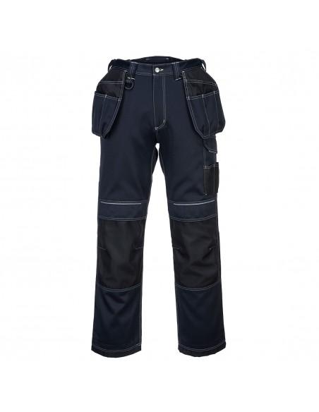 Portwest-Pantalon BTP de travail avec poches flottantes Holster PW3 Marine/Noir