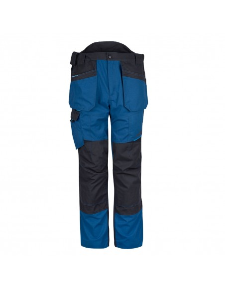 Portwest-Pantalon taille haute de travail avec coton très résistant Bleu Persan