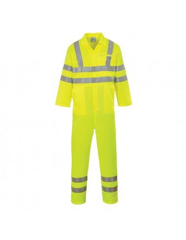 Combinaison Haute Visbilité Protection route/Autoroute Portwest Jaune