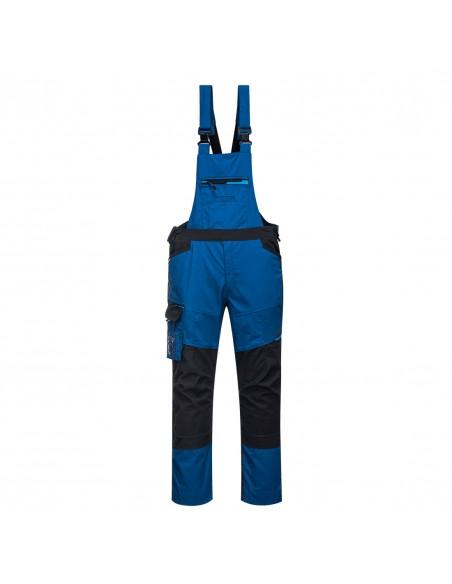 Portwest Cotte à bretelles de travail contemporaine durable et souple Bleu Persan