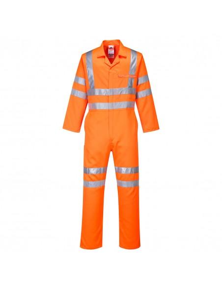 Portwest Combinaison Haute Visibilité Poly-coton RIS Coupe Standard Orange