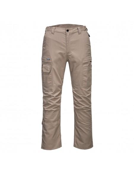 Portwest-Pantalon pro de travail en stretch résistant Ripstop KX3 Safari